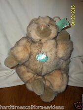 """INCREDIBLE PETABLES TWO TONE LARGE FAT CAT 15"""" LONG PLUSH WITH TAGS"""