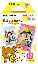 Fujifilm Instax Mini Full Color RILAKKUMA Fuji Instant Film 10 Sheets Prints