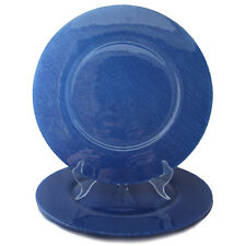 VILLEROY AND BOCH Cobalt Blue CHARGER SERVICE PLATE TEXTURED LOOK Glass four