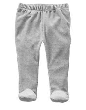 GAP Baby Boy Girl Size Newborn Gray Velour Pull-On Knit Footed Footie Pants