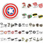 Men's Cufflinks Superhero Star Wars Wedding Stainless Steel Lot Shirt Cuff Links