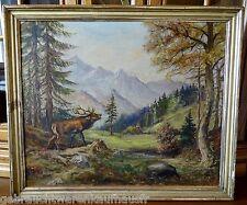Gemälde auf Leinewand-Maler unbekannt von 1920 -  Größe=67x57cm im Holzrahmen
