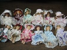 36 Miniature porcelain dolls. 4.5 & 5 inch. Vintage Look.
