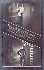 Patriotische Postkarte: Steh ich auf in finst`rer Mitternacht um 1913 n Lobsdorf