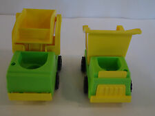 Vtg Fisher Price Little People Play Family Construction Bob Cat Loader Toy Lot