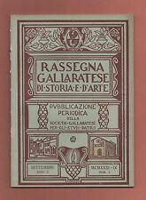 Gallarate Varese+RASSEGNA GALLARATESE DI STORIA E D'ARTE.-a.II-n.3-SETTEMBRE1931