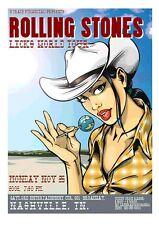 ROLLING STONES NASHVILLE 02 GIG POSTER SIGNED