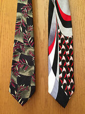 Lot of 2 Vintage 100% SILK HANDMADE NECKTIES by WOODWARD & ENRICO CAPUCCI