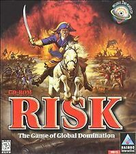Risk CD-ROM (PC, 1996) Hasbro classic turn based strategy game global domination