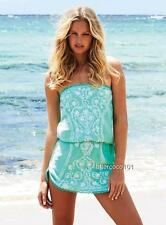 MELISSA ODABASH Embroidered Mint Toya Dress Kaftan Cover Up Beach Bikini SZS