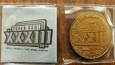 Super Bowl XXXIII Bronze Coin from Balfour sports w/ certificate of authenticity