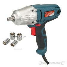 "HEAVY DUTY SILVERLINE 400W ELECTRIC 240V 1/2"" DRIVE IMPACT WRENCH & SOCKETS"