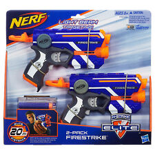 Brand New NERF Elite FIRESTRIKE Dart BLASTER 2 Pack