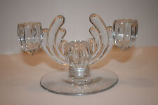 Vintage Heisey Crystolite Art Deco Candelabra 3 Candle Holder