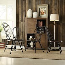 Kitchen Side Chairs Mid Century Wood Spindle Espresso Windsor Dining Furniture