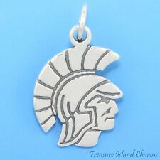 SPARTAN WARRIOR SPORTS MASKOT .925 Sterling Silver Charm ANCIENT GREECE SPARTA