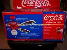 "New Coca Cola CEILING FAN 1997 Bottle 44"" Coke Globe Blades Glass Light Pole NIB"