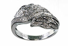Affinity Diamond 1/7 Ct tw Sterling Angel Wing Ring Size 5