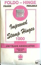 "Stamp Hinges - ""Foldo-Hinge"" Package of 1000 Folded, Peelable  - CHEAPEST $2.39"
