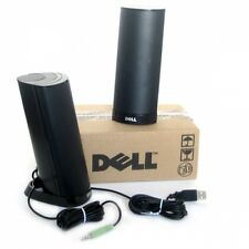 NEW Genuine Dell AX210 Black Multimedia Speakers USB Powered PC Laptop