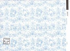 Playland Toile - Blue - 188D2 MiniGraphics  wallpaper dollhouse 1/12 scale