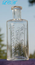 RARE style old MILES CITY MONTANA antique bottle W. E. SAVAGE Druggist