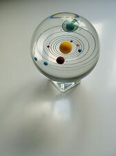 Orrery Solar System In 85mm Glass Crystal Ball.Art,Vintage,Desktop,Collectables.