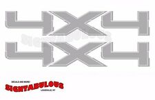 2009 2010 2011 2012 2013 2014 4x4 SILVER Off Road Decals Ford F150 bedside trucK