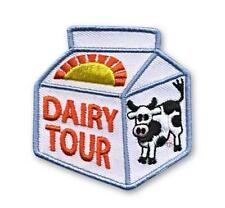 Girl Boy Cub DAIRY TOUR FARM Fun Patches Crests Badges SCOUT GUIDE MILK Cow