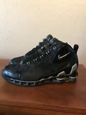 Nike Shox VC III Mens Size 9 Black Metallic Silver High Hi Top Shoes 307111-001