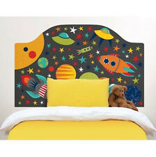 OUTER SPACE Twin HEADBOARD 1 MURAL wall sticker decal bedroom solar system decor