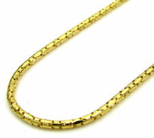 18''1mm 1.7 Grams 10k Yellow Gold Skinny Tube Bullet Chain Necklace Ladies Mens