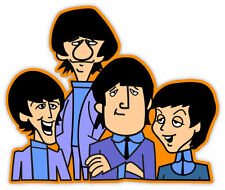 "The Beatles cartoon sticker decal 5"" x 4"""