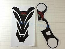 Real Carbon Firber GSXR 3D Protector Decal Tank Pad Sticker For GSXR600 750 1000
