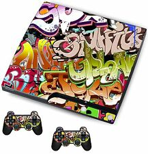 Graffiti Sticker/Skin PS3 Playstation 3 Console/Remote controllers,psk4