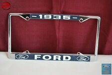 1935 Ford Car Pick Up Truck Front Rear License Plate Holder Chrome Frame New
