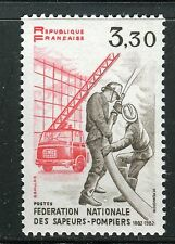 FRANCE 1982 NATL FED.FIREMEN CENT/FIREFIGHTERS/FIRE TRUCK/UNIFORM/MILITARY