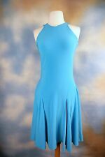 NEW RALPH LAUREN turquoise blue stretch fit n flare sexy cocktail dress SZ: XS