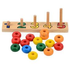 Wooden Frame Abacus Beads Count Number Maths Preschool Child Educational Toy