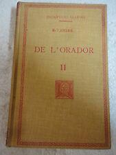 Escriptors Llatins,De L´Orador II M.T.Ciceroi,F.Bernat Metge 1931