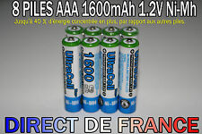 8 Piles AAA Rechargeable 1600mAh 1.2V ULTRA NIMH R3 R03 LR3 LR03 Accus - HOT