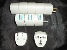 Lot of 10 AC electrical adapter for 3 plug AU EU China Asian adapters to USA US