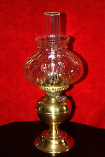 Antique Victorian Brass Duplex Oil Lamp