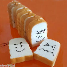 I1 1x Random 7cm Slice Bread Smell Faces Squishy Punch Cell Phone Straps Charms