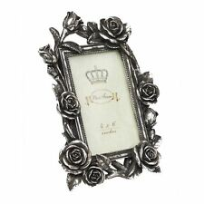 Alchemy Gothic Rose & Vine Antique Silver Finished Resin Photo Frame 25cm