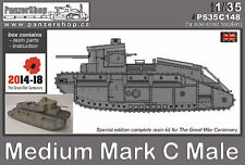 Medium Mark C Mk.C Male British WW1 tank 1/35 PanzerShop resin Great War 1914