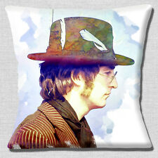"NEW JOHN LENNON MUSICIAN THE BEATLES PHOTO PRINT DESIGN 16"" Pillow Cushion Cover"