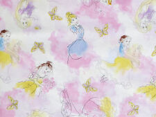 DISNEY PRINCESS STYLISH WATERCOLOR FABRIC PRINCESSES RAPUNZEL CINDERELLA YARDAGE