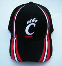 black UC CINCINNATI BEARCATS Basketball Adjustable Velcro Nylon Baseball Hat NWT