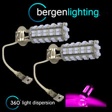 2X H3 PINK 60 LED FRONT FOG SPOT LAMP LIGHT BULBS HIGH POWER KIT XENON FF500201